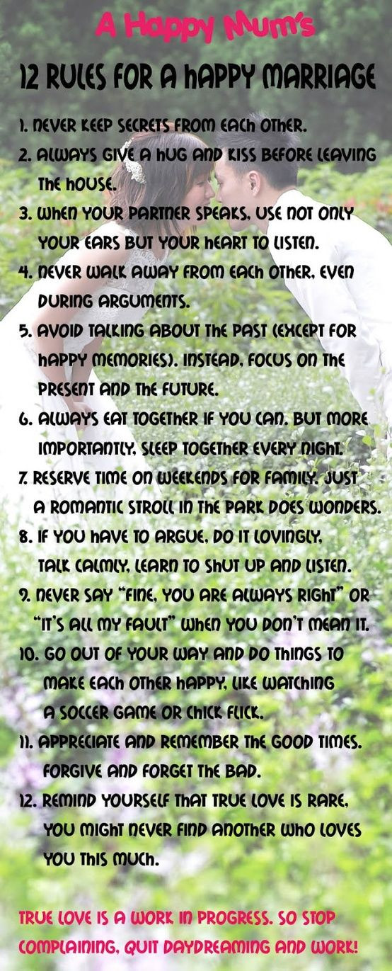 Quote About Happy Marriage  12 Rules For A Happy Marriage Quotes