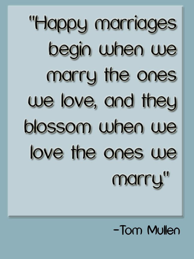 Quote About Happy Marriage  Happy marriage Quote