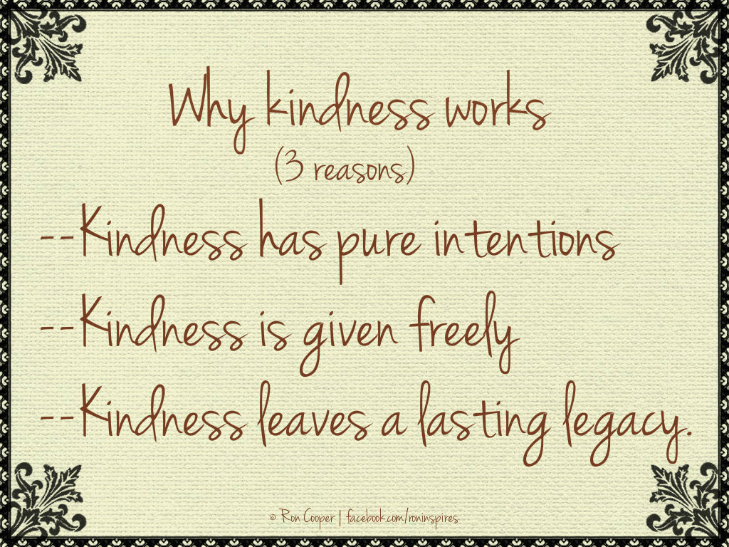 Quote Of Kindness  Why Kindness Works…