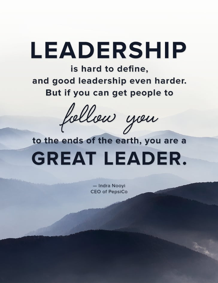 "Quote On Great Leadership  ""Leadership is hard to define and good leadership even"