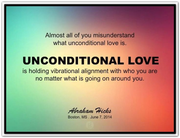 Quote Unconditional Love  Unconditional love