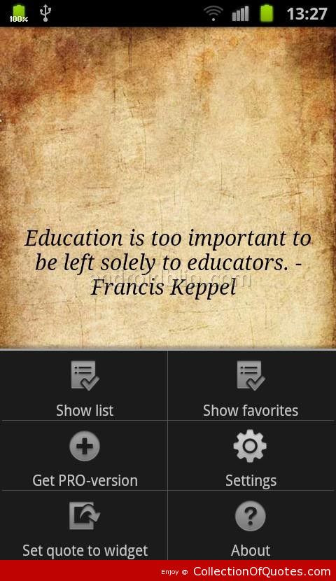 Quotes About Education Importance  Importance Education Quotations Quotes QuotesGram