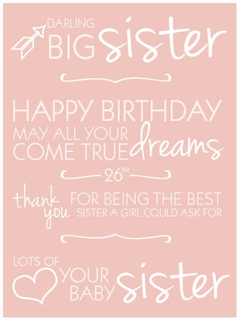 Quotes For A Sister Birthday  Brandi le Withrow take away the 26th and replace it