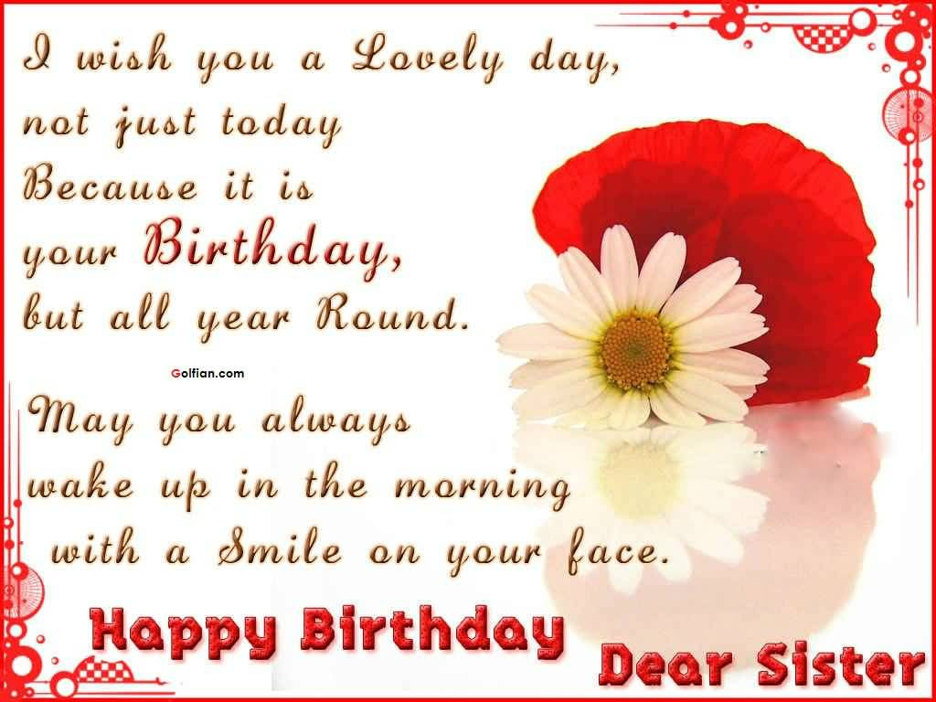 Quotes For A Sister Birthday  60 Nice Sister Birthday Quotes – Best Birthday Sayings