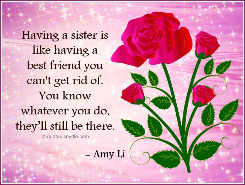 Quotes For A Sister Birthday  Birthday Quotes for Sister Quotes and Sayings