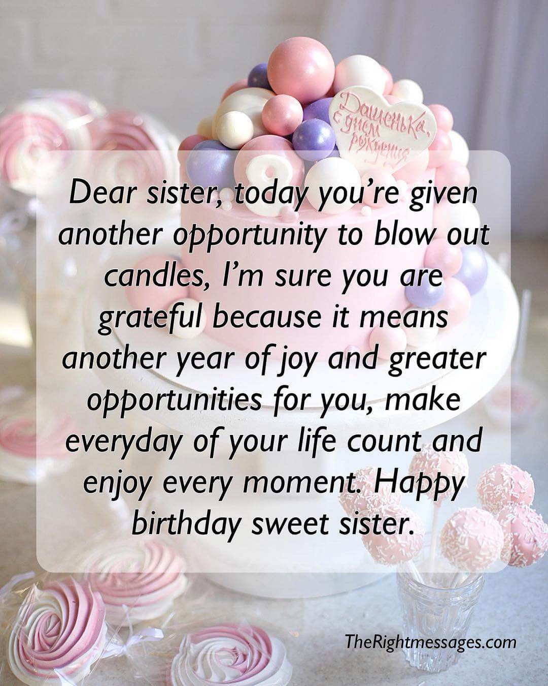 Quotes For A Sister Birthday  Short And Long Birthday Messages Wishes & Quotes For