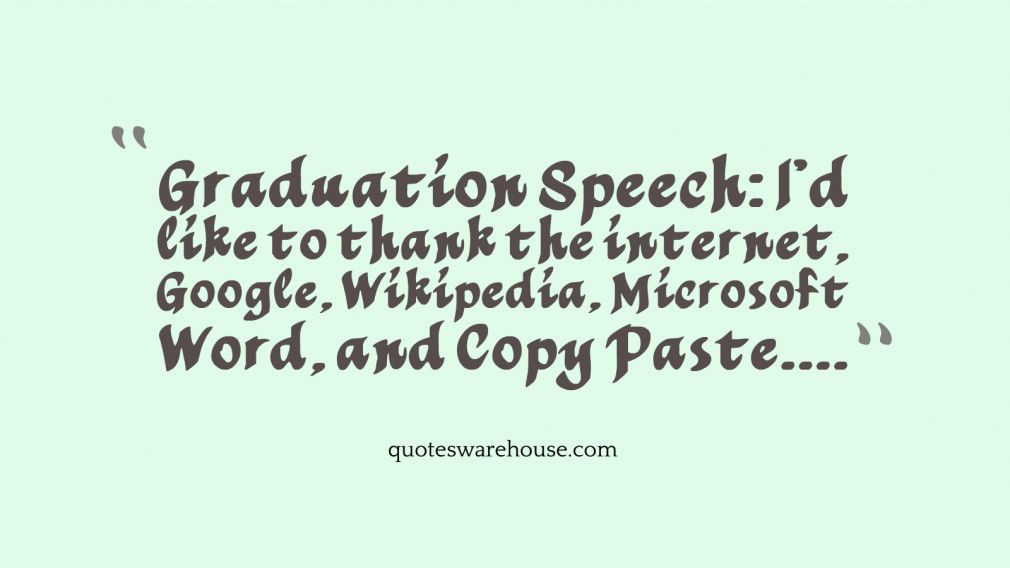 Quotes For Graduation Speeches  8th Grade Graduation Speech Quotes QuotesGram