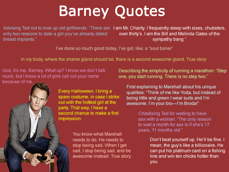 Quotes From How I Met Your Mother  How I Met Your Mother Barney Quotes QuotesGram