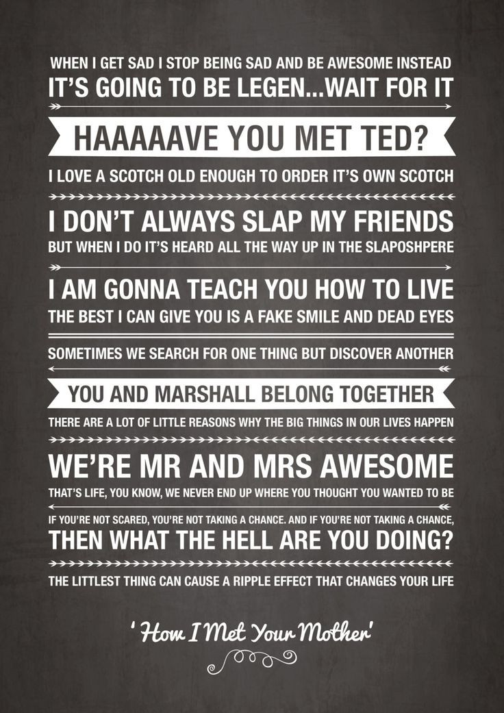 Quotes From How I Met Your Mother  Best 25 Funny mother quotes ideas on Pinterest