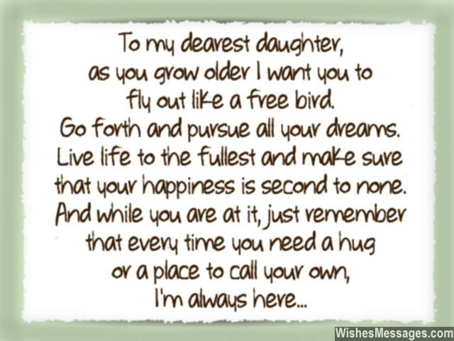 Quotes From Mother To Daughter  I Love You Messages for Daughter Quotes – WishesMessages