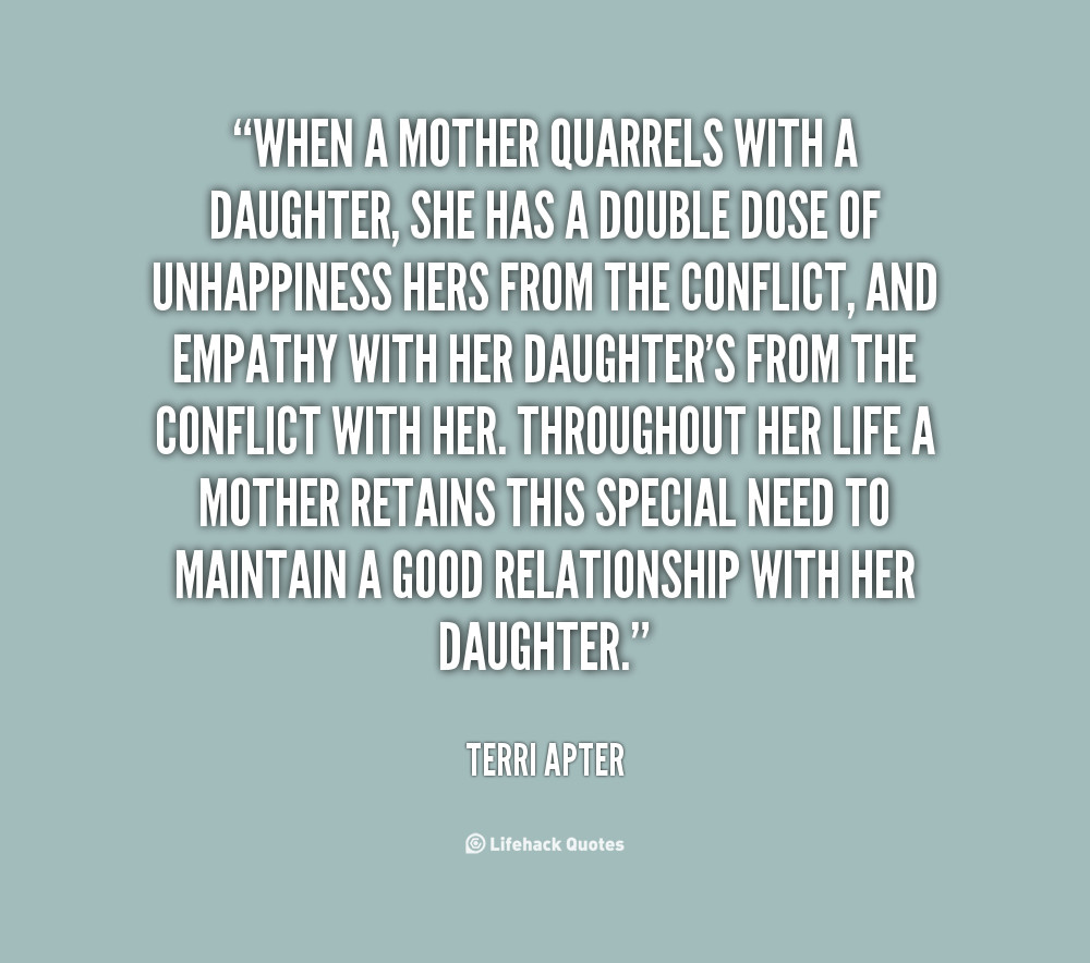 Quotes From Mother To Daughter  Sad Mother Daughter Quotes QuotesGram