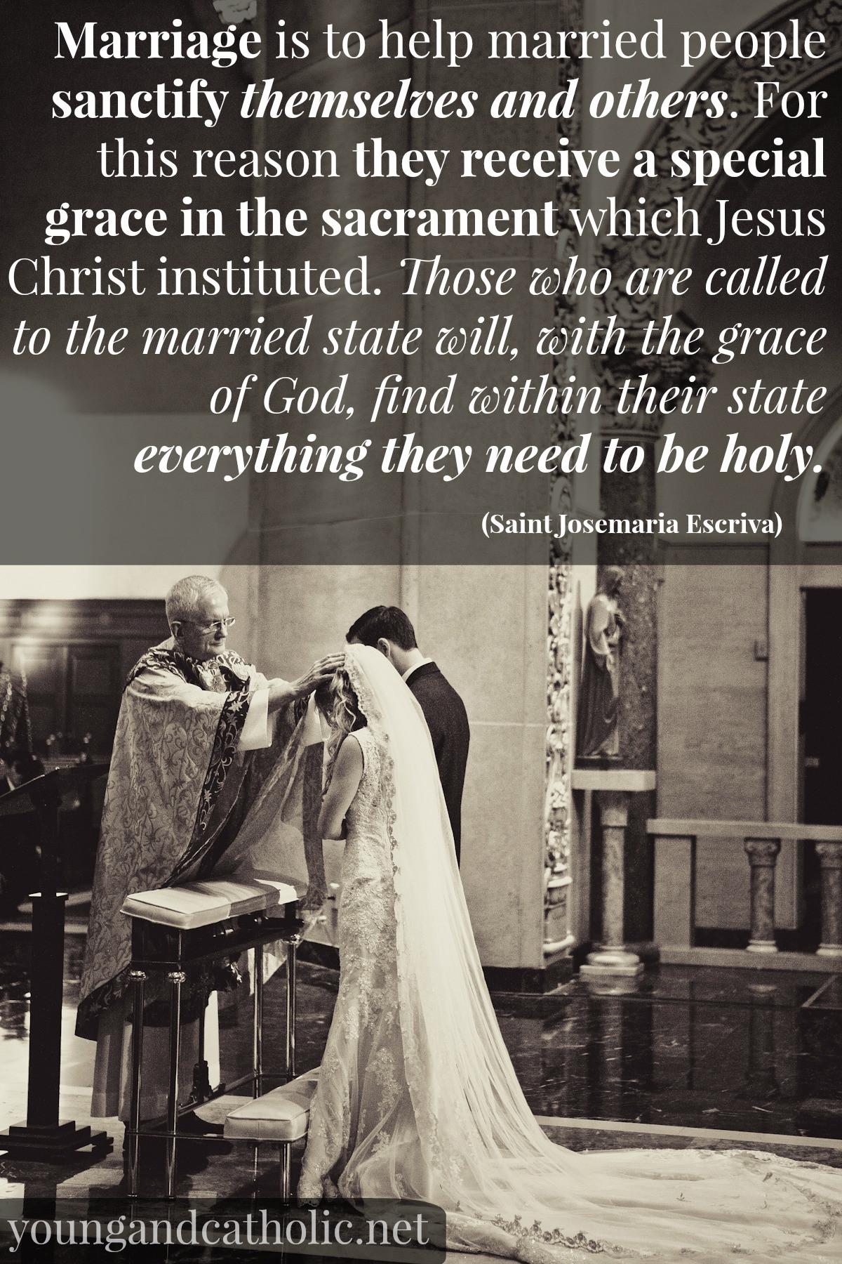 Quotes Of Marriage  Catholic Saint Quotes Marriage QuotesGram