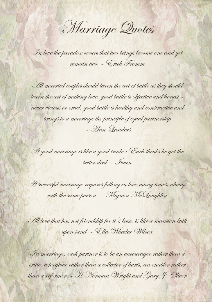 Quotes Of Marriage  Marriage Quotes Motivational