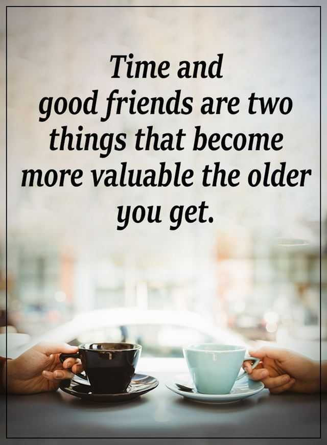 Quotes On Good Friendship  Inspirational Life Quotes Time and Good Friends Are Two