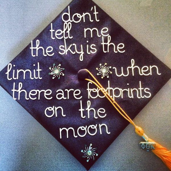 Quotes To Put On Graduation Cap  60 Awesome Graduation Cap Ideas