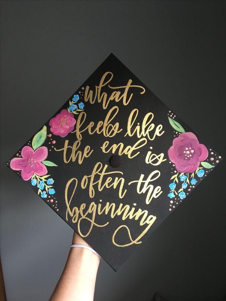 Quotes To Put On Graduation Cap  oliviaafrances Decorated grad cap graduation cap