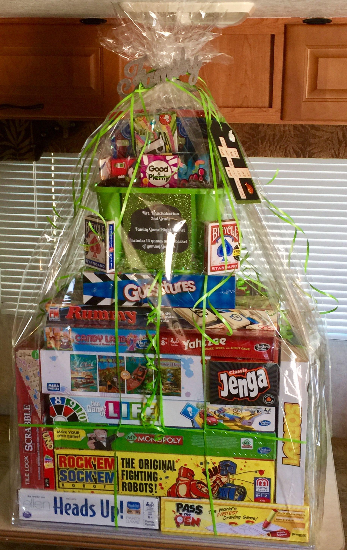 Raffle Gift Basket Ideas  Family game night raffle basket