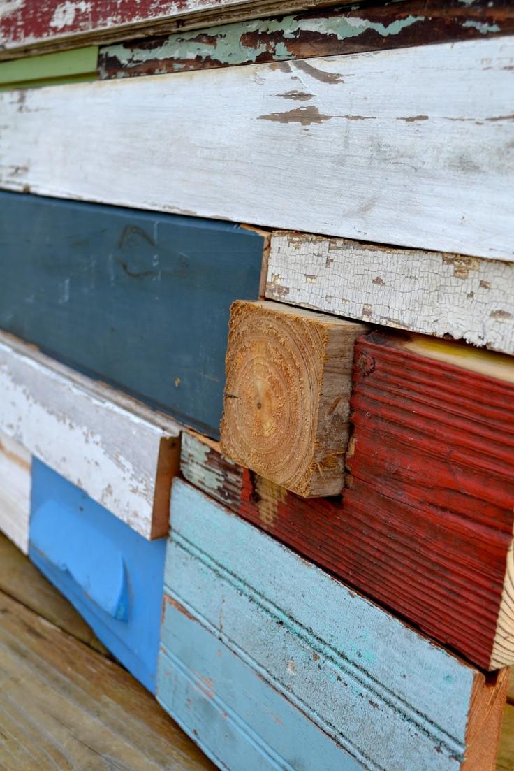 Reclaimed Wood Wall Art DIY  DIY Reclaimed Wood Wall Art Tutorial Crafts