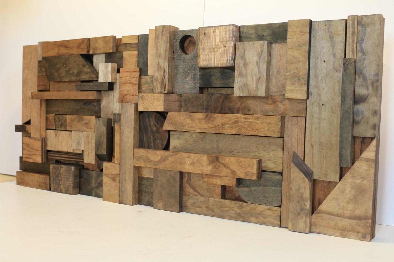 Reclaimed Wood Wall Art DIY  Wood Wall Art Reclaimed Wood Art Scrap Wood Art by WoodWarmth