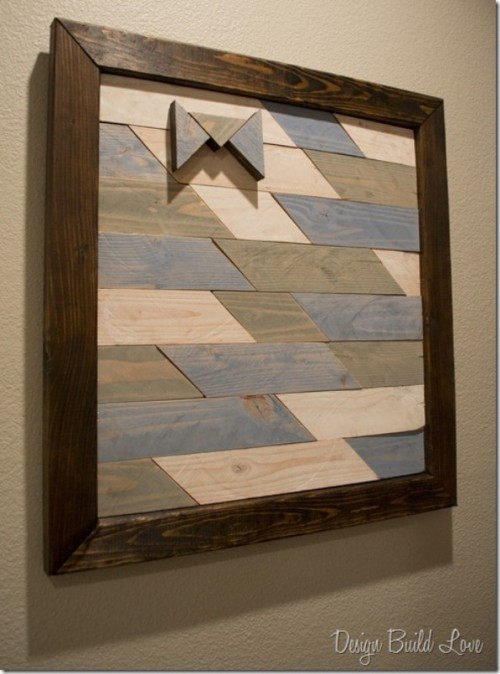 Reclaimed Wood Wall Art DIY  21 DIY Wood Wall Art Pieces For Any Room And Interior