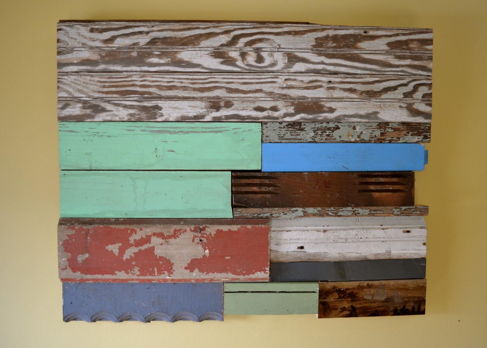 Reclaimed Wood Wall Art DIY  The Domestic Doozie DIY Reclaimed Wood Wall Art