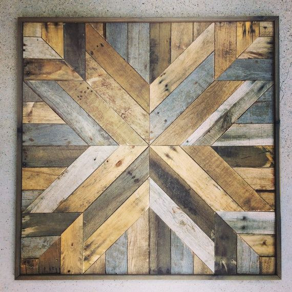 Reclaimed Wood Wall Art DIY  19 Smart and Beautiful DIY Reclaimed Wood Projects To Feed