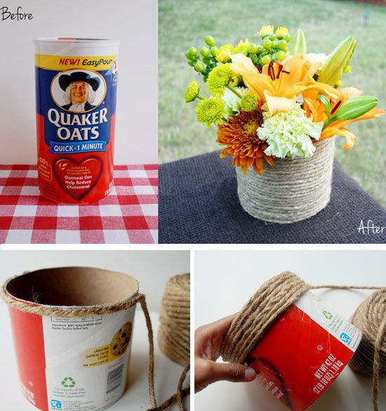 Recycled Craft Ideas For Adults  Best 25 Oatmeal container ideas on Pinterest