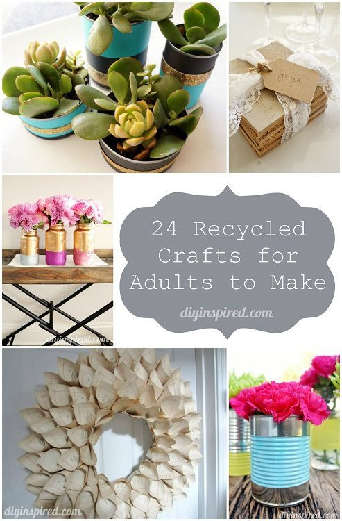 Recycled Craft Ideas For Adults  24 Cheap Recycled Crafts for Adults to Make DIY Inspired