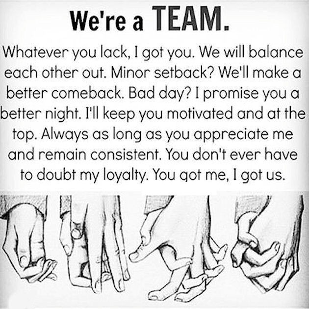 Relationship Team Quotes  We Are A Team s and for