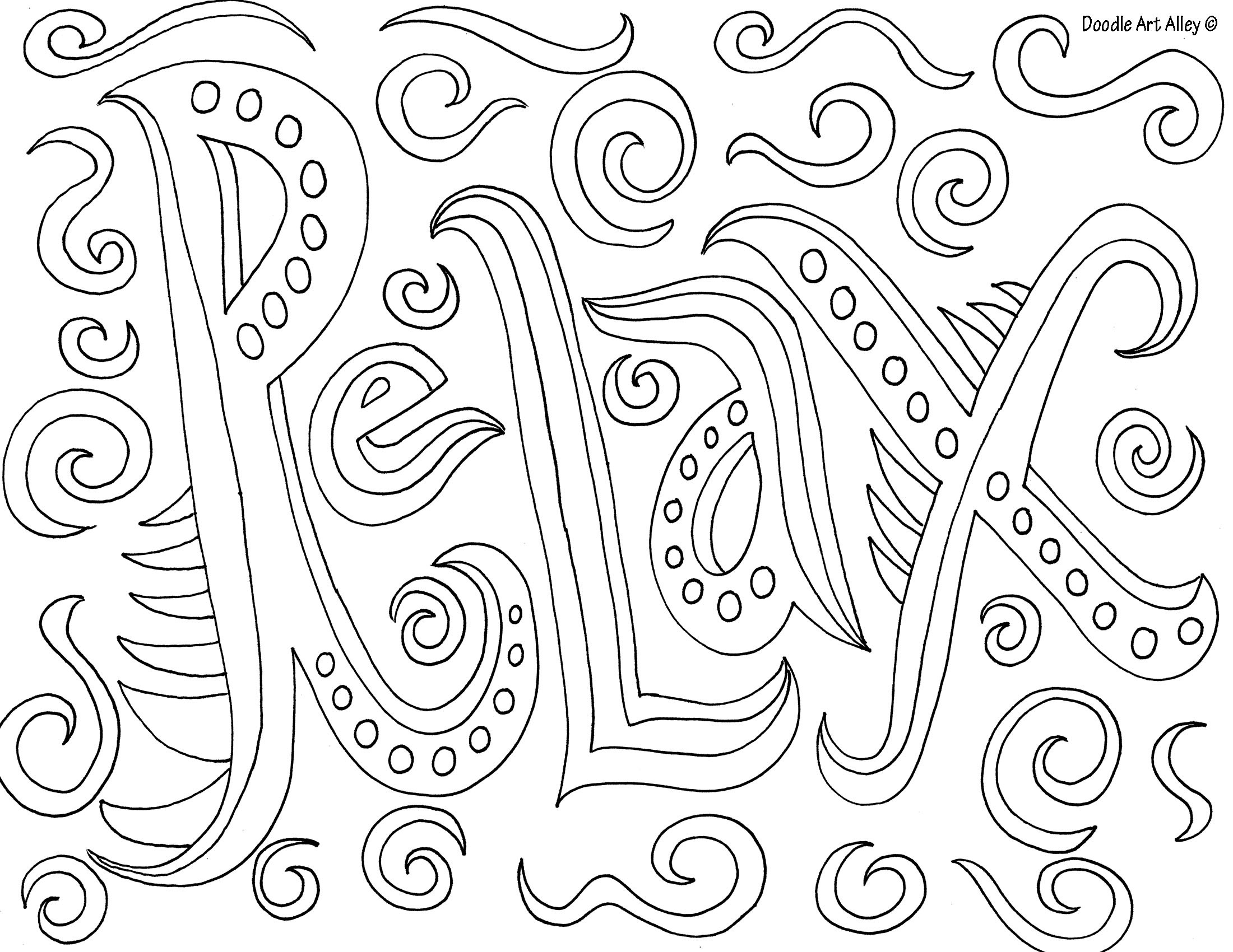 Relaxing Coloring Pages For Kids  Relaxing Coloring Pages coloringsuite