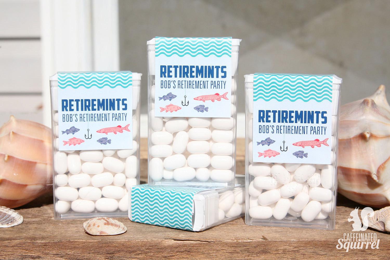 Retirement Party Favor Ideas  Retiremints Tic Tac Labels Perfect for Retirement Party Dad