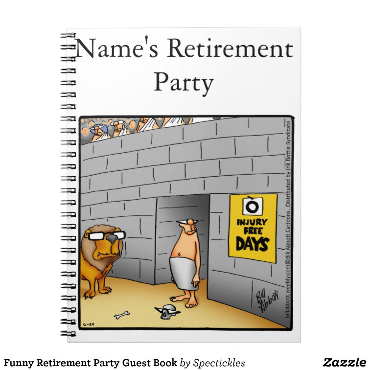 Retirement Party Guest Book Ideas  Funny Retirement Party Guest Book Notebook