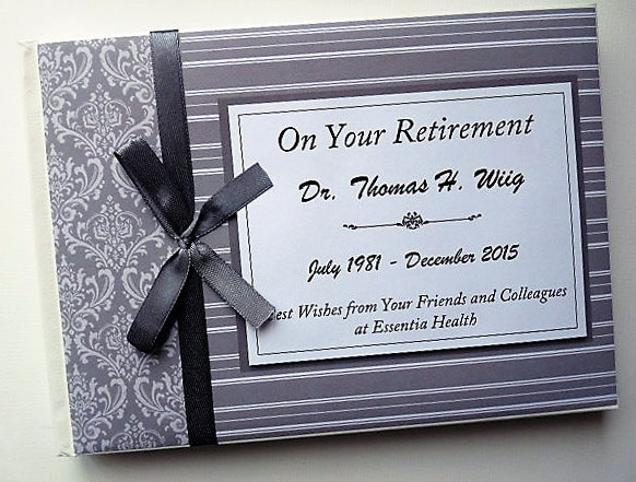 Retirement Party Guest Book Ideas  Personalised Grey Retirement Wedding Occassion Guest Book