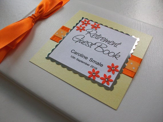 Retirement Party Guest Book Ideas  Unavailable Listing on Etsy