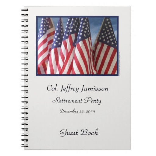 Retirement Party Guest Book Ideas  Retirement Party Guest Book American Flags Notebooks
