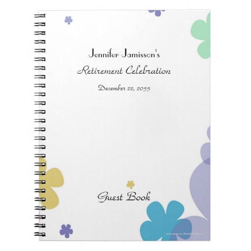 Retirement Party Guest Book Ideas  Retirement Party Guest Book Notebooks