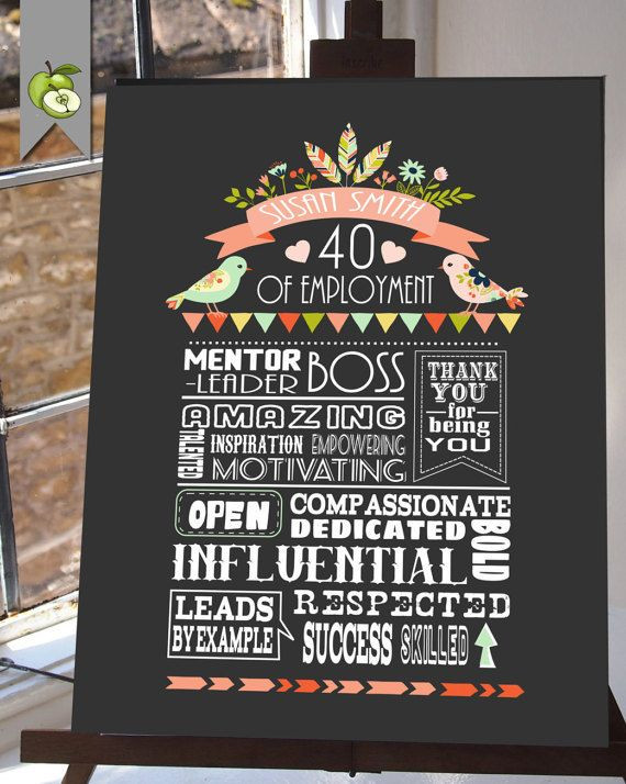 Retirement Party Ideas For Boss  Retirement t printable Boss t retirement poster