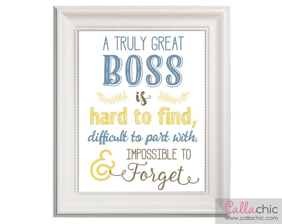 Retirement Party Ideas For Boss  Boss Wall Art PRINTABLE Appreciation Farewell Retirement