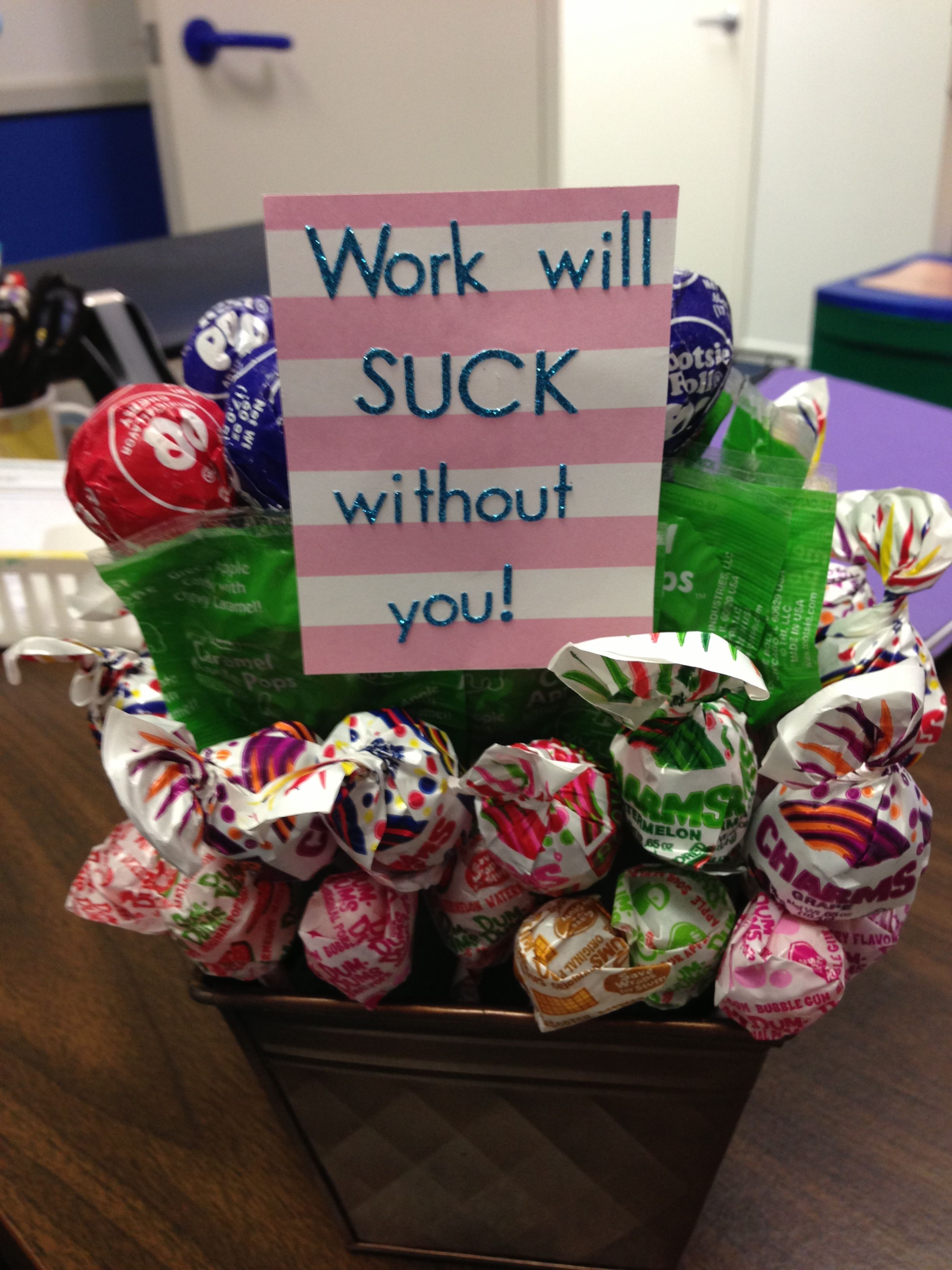 Retirement Party Ideas For Boss  Lollipop goodbye t Random