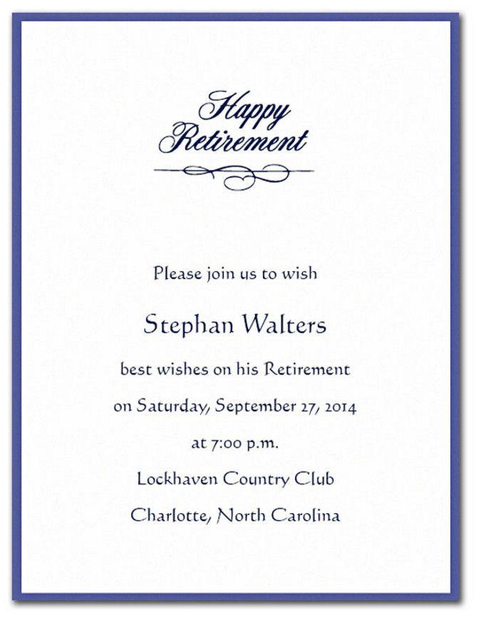 Retirement Party Invitation Wording Ideas  retirement cocktail party invitation wording