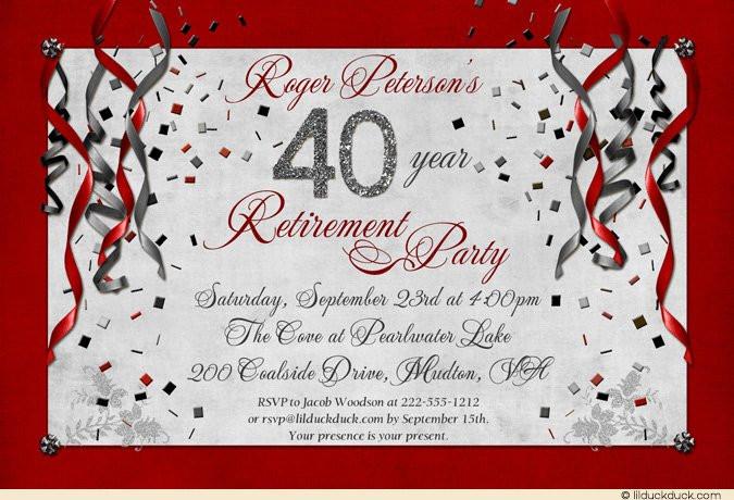 Retirement Party Invitation Wording Ideas  Retirement Party Invitation Ideas