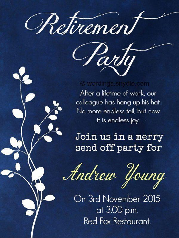 Retirement Party Invitation Wording Ideas  Nice Retirement Party Invitation Wording
