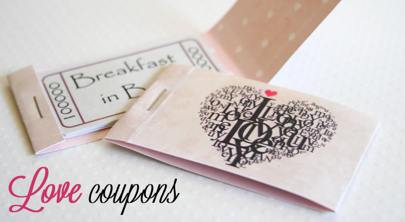 Romantic Homemade Gift Ideas For Boyfriend  Free Printable Love Coupons