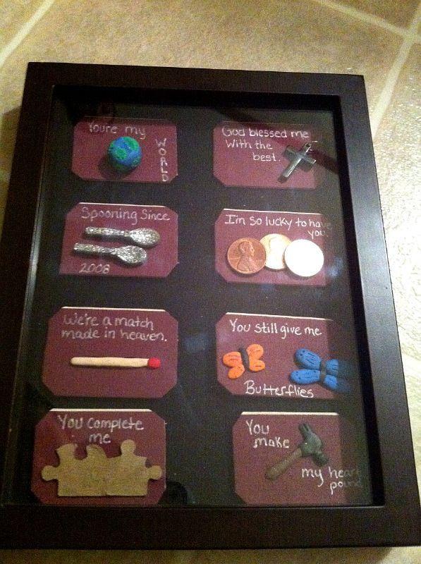 Romantic Homemade Gift Ideas For Boyfriend  My Homemade Gift I made for my fiancA© for our 4 year