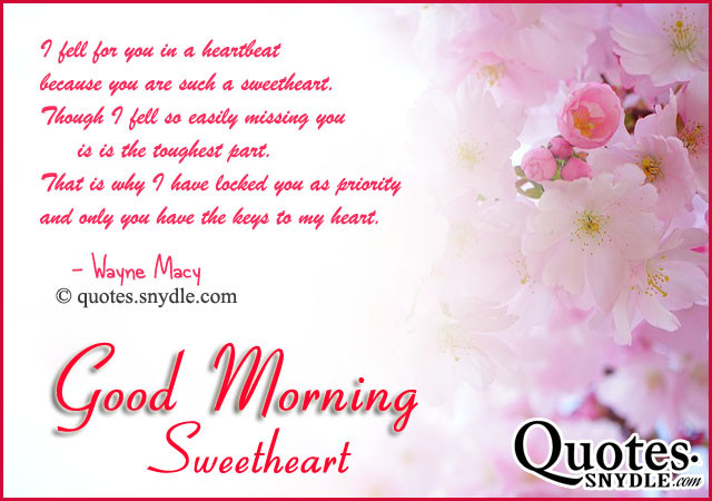 Romantic Morning Quotes  Romantic With Quotes For Her