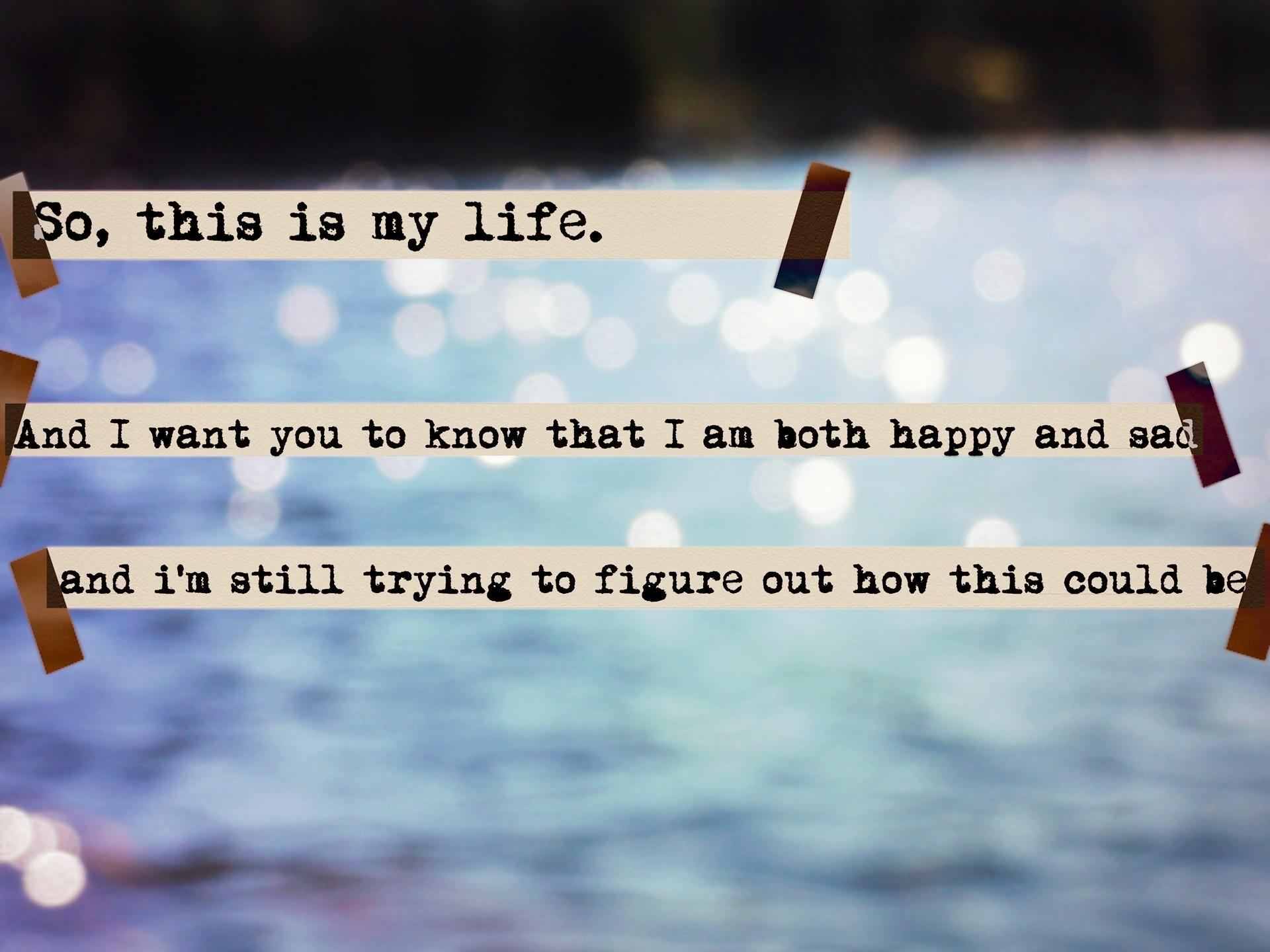 Sad And Happy Quote  PSEUDOMONAZ