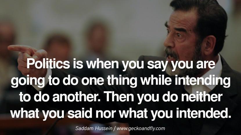 Saddam Hussein Quotes  Dictatorship Quotes QuotesGram