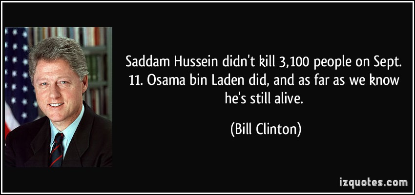 Saddam Hussein Quotes  OSAMA BIN LADEN QUOTES image quotes at hippoquotes