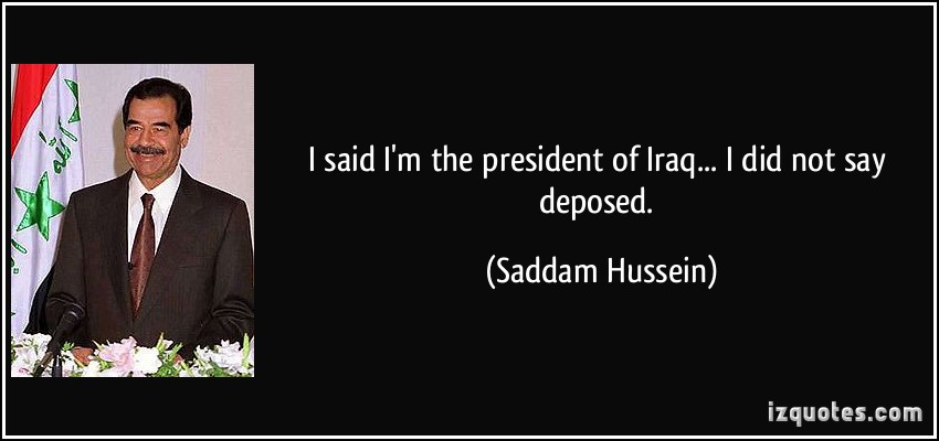 Saddam Hussein Quotes  SADDAM HUSSEIN QUOTES GULF WAR image quotes at relatably