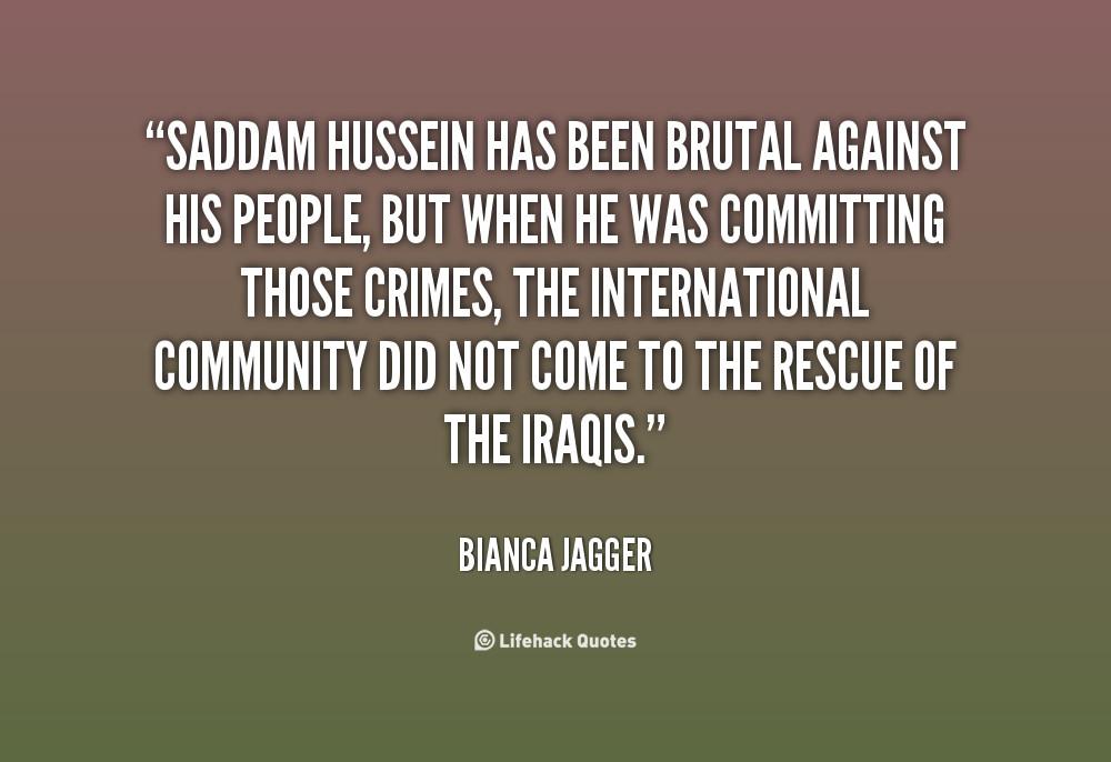 Saddam Hussein Quotes  Saddam Quotes QuotesGram